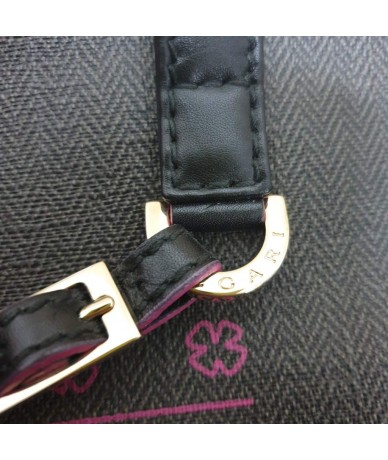 BULGARI Shoulder bag in canvas and leather