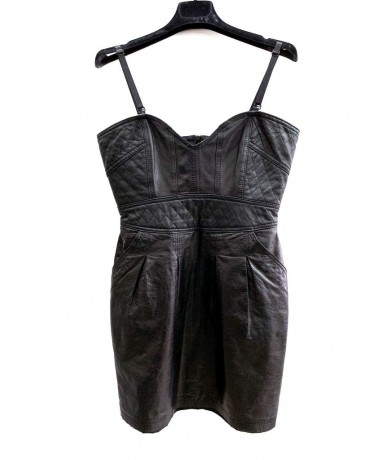 DANIELE ALESSANDRINI Dress in leather tg. 42