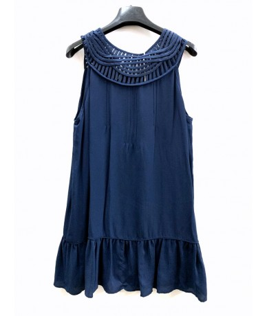 TOP in blue silk size M