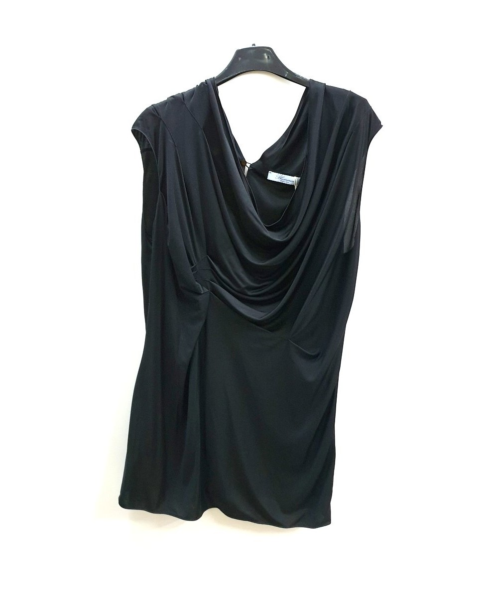 BLUMARINE Black silk top tg. 48