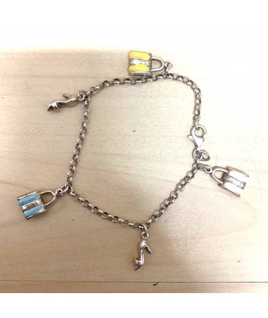 BRACELET in silver with fashion accessories charm