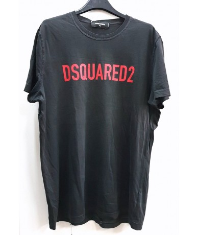 DSQUARED2 Shirt man size XL black color