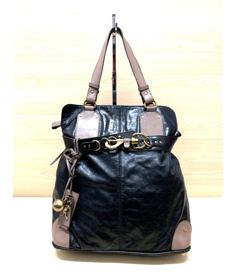 CHLOE Shoulder bag in black and brown leather