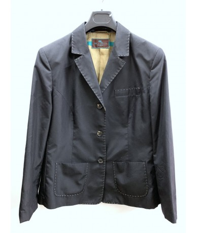 ETRO Jacket in black silk tg. 48
