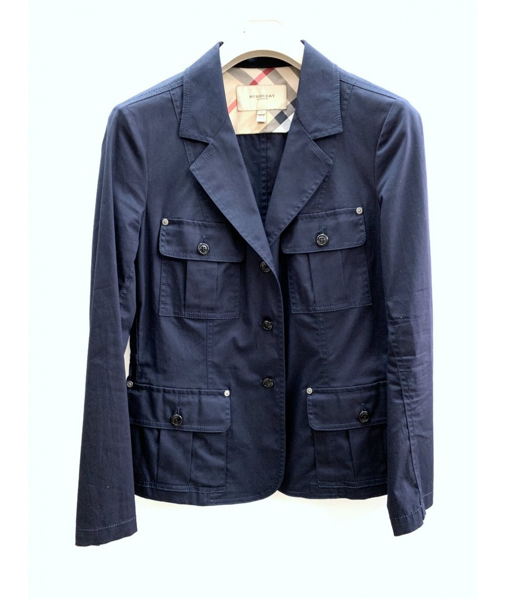 BURBERRY Woman jacket in blue cotton tg. 42