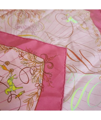 HERMES Handkerchief made from bright pink silk