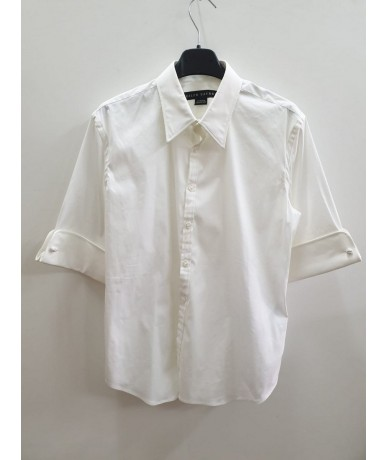RALPH LAUREN White cotton shirt size 12 (it 44)