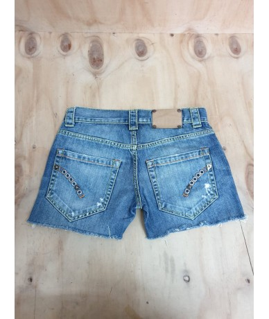 DONDUP hotpants tg 26 colore blu medio