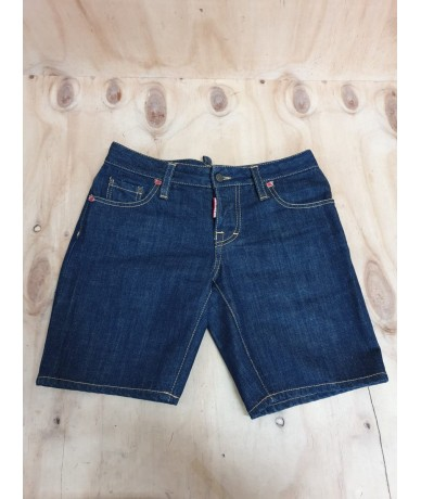 DSQUARED2 men's shorts size 40 dark blue color