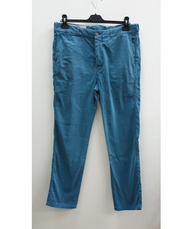 GOLDEN GOOSE trousers man size M light blue color