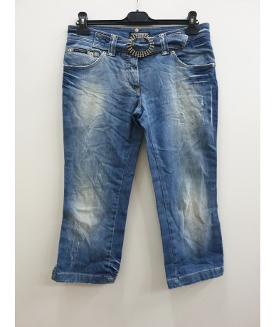 DOLCE & GABBANA woman jeans size 44 medium blue color