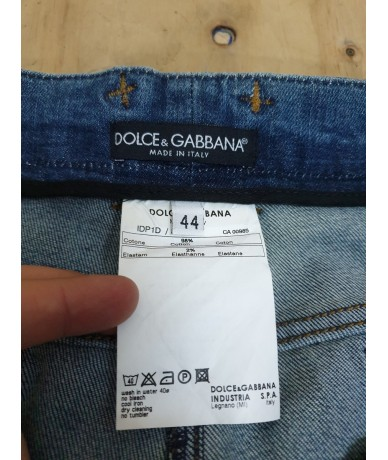 DOLCE & GABBANA straight woman jeans size 44 medium blue color