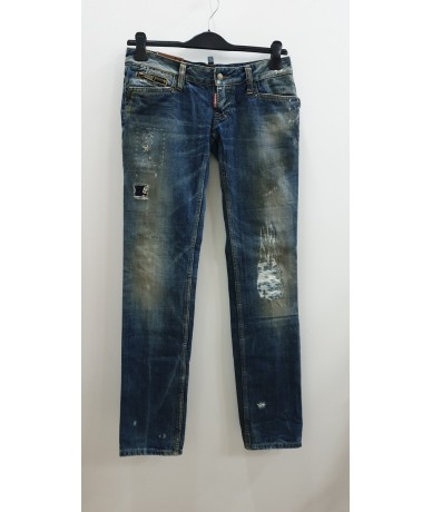DSQUARED2 men's jeans size 44 slim fit washed blue
