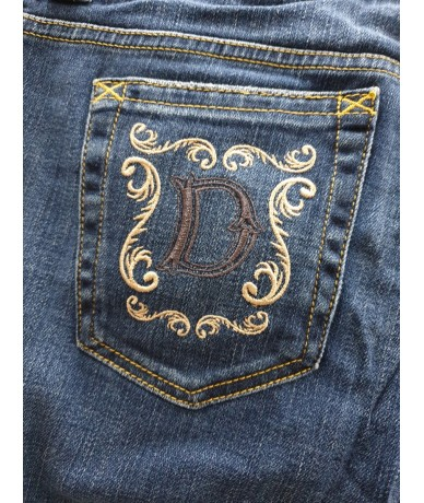 DOLCE & GABBANA short jeans woman size 42 medium blue color