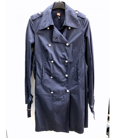 DONDUP Trench coat for women 46 blue color