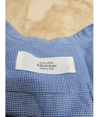 MAURO GRIFONI dress size 44 blue with striped pattern