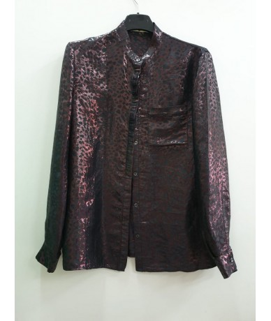 GOLDEN GOOSE women's shirt size 44 in dark purple viscose