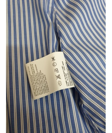 DSQUARED2 woman blouse size 44 in blue striped cotton