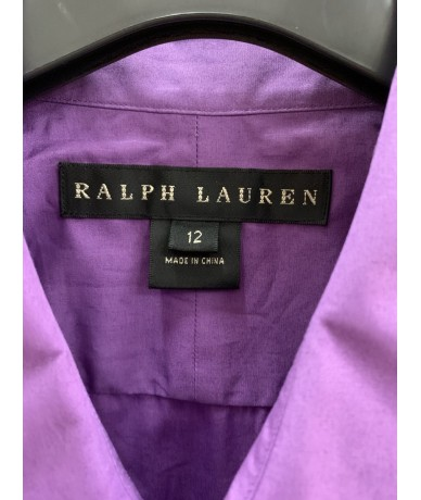 RALPH LAUREN Cotton shirt purple color tg. 12 (it44)