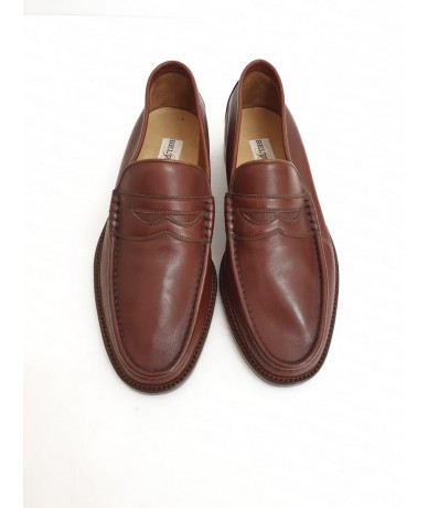 BELTRAMI Men's shoes in leather size 7.5 brown color