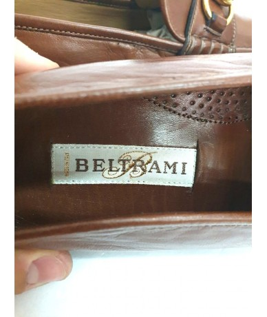 BELTRAMI Leather loafers shoes size 7.5