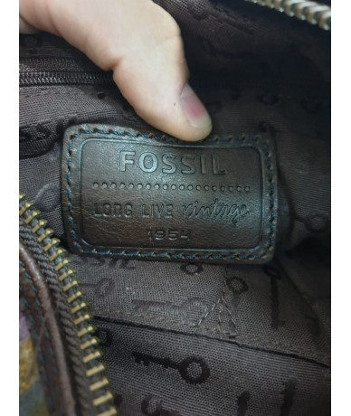FOSSIL Shoulder bag in fabric and leather