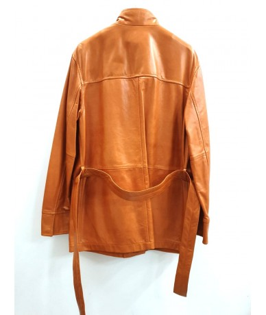 FAY long leather jacket for women size S