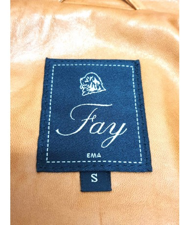 FAY giacca lunga in pelle da donna tg S