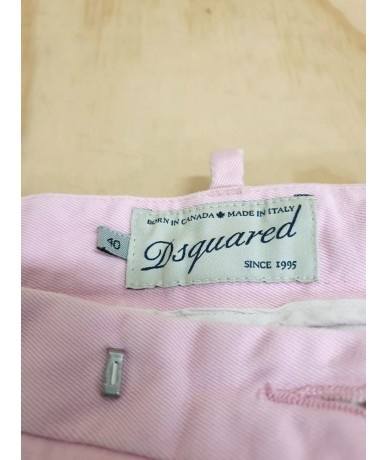 DSQUARED2 women's trousers size 40 in pink cotton