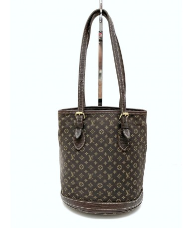 LOUIS VUITTON Petit Buckett in tessuto e pelle monogram