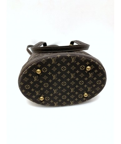 LOUIS VUITTON Petit Buckett in fabric and monogram leather