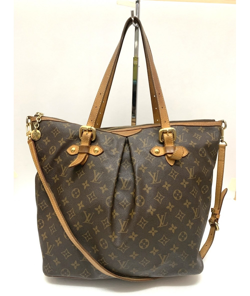 LOUIS VUITTON Palermo borsa shopping in canvas e pelle ...