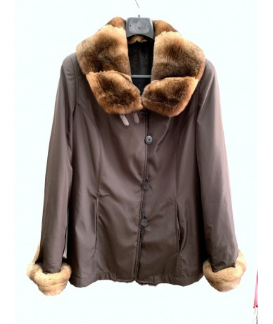 VITO NACCI Jacket with lapin fur tg. 44
