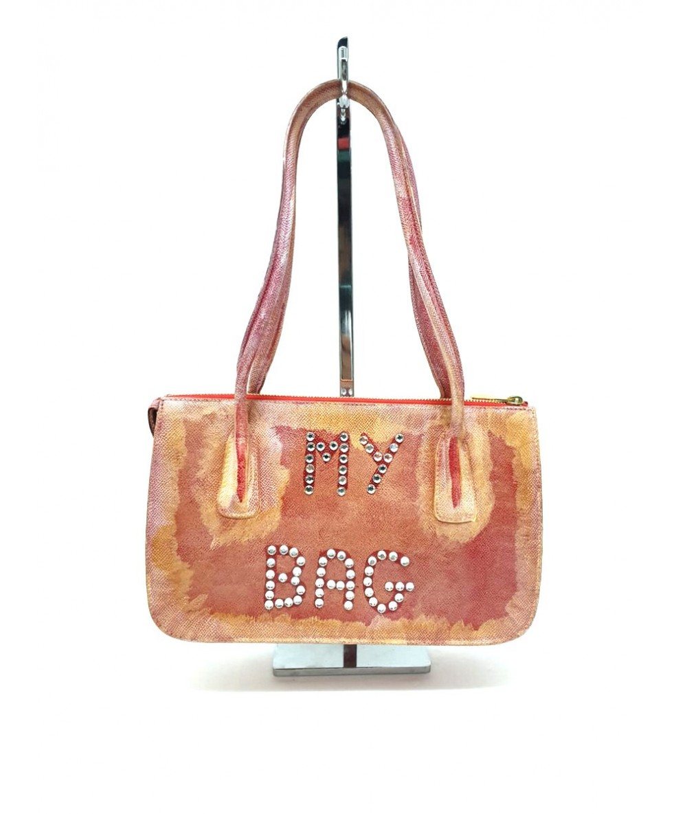 CLAUDIO BUDEL MILANO patterned shoulder bag with applications