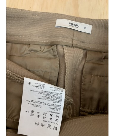 PRADA short pants woman size 38 beige color