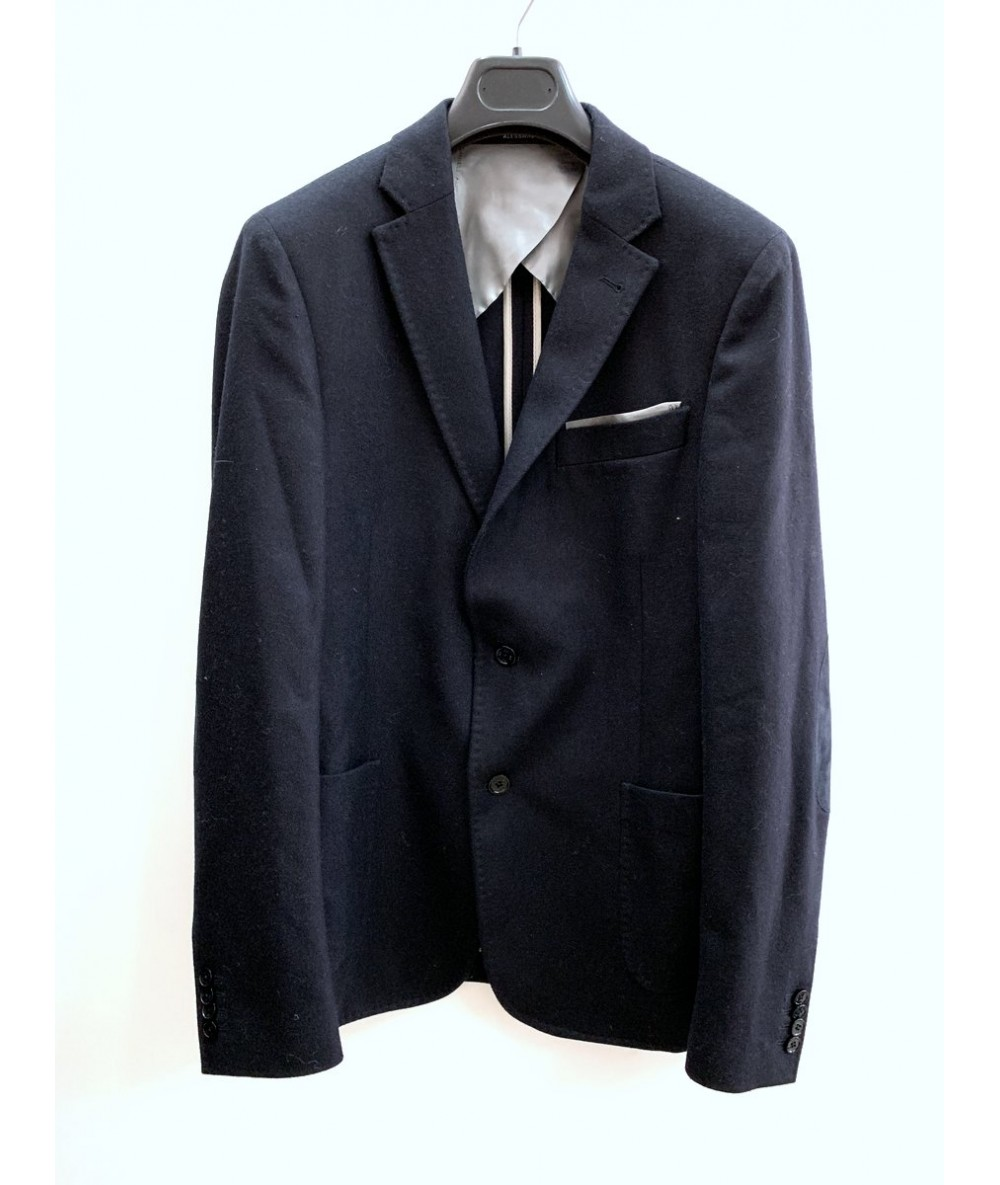 DANIELE ALESSANDRINI men's blazer size 48 blue in wool