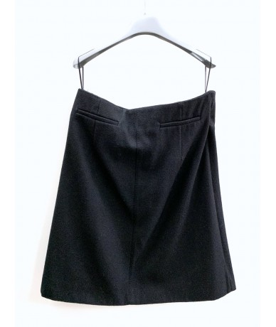 GOLDEN GOOSE midi skirt in wool and nylon in black L color