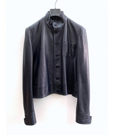 Ralph Lauren blue lambskin jacket tg. 10 (it 42)