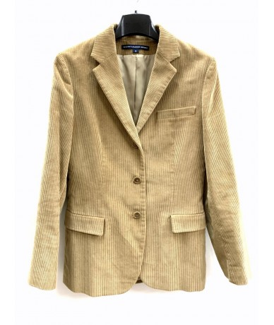 Ralph Lauren Woman jacket in beige multi-striped velvet