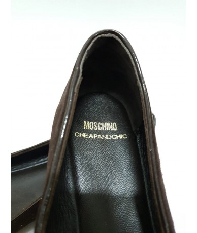 Moschino Cheap and Chic suede loafers shoes size 37