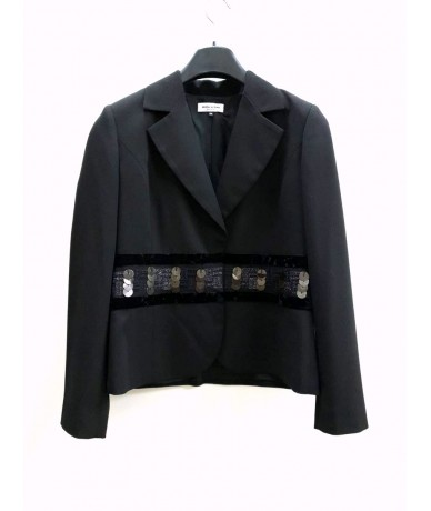 Mila Schon jacket woman size 44 black color