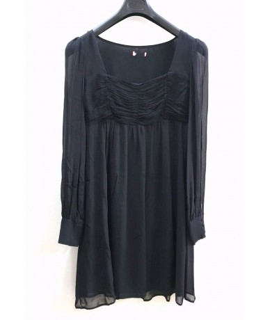 Max & Co black silk dress size 46