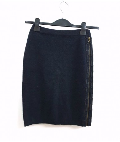 POI By KRIZIA midi skirt in wool size S / M black color