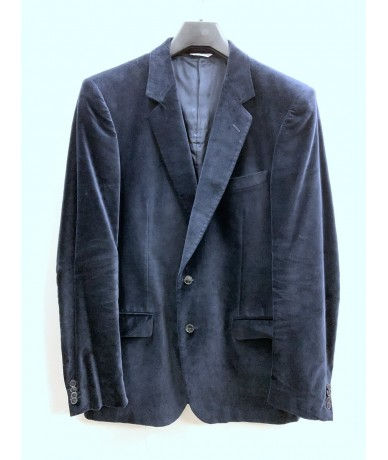 Mauro Grifoni Man jacket size 52 in blue velvet