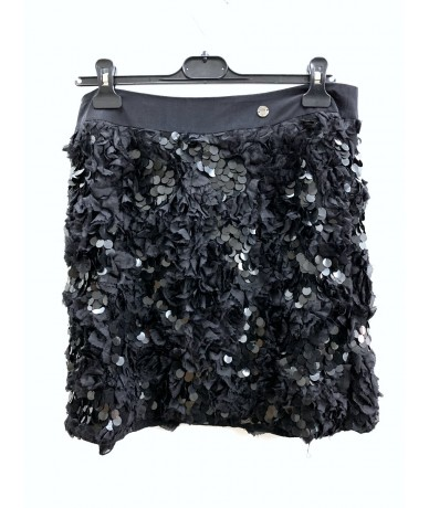 Fairly Skirt with Pajette black color size 48