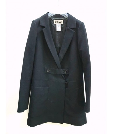 Chloé black wool coat size 40