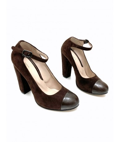 Max & Co. suede shoes size 38 brown color