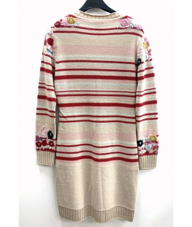 Christian Lacroix Cardigan dress in embroidered beige size. M