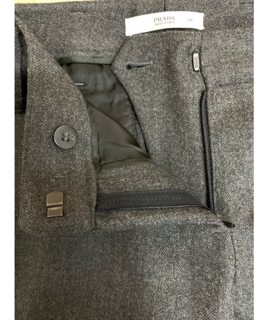 Prada trousers size 38 in anthracite gray wool
