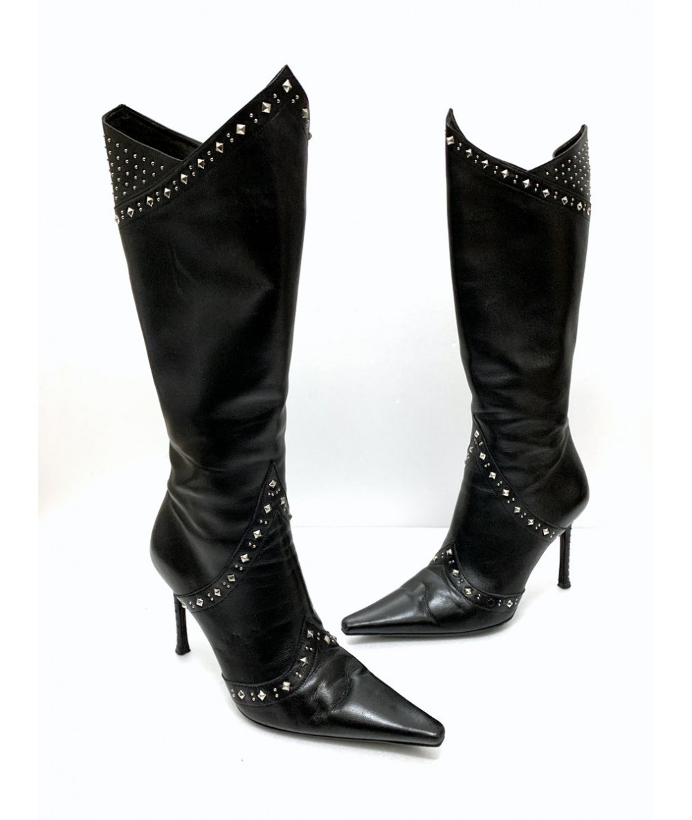 Cesare Paciotti leather boots number 37 black color